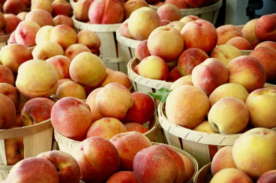 Nalls Farm Market: Peaches for sale at Nalls