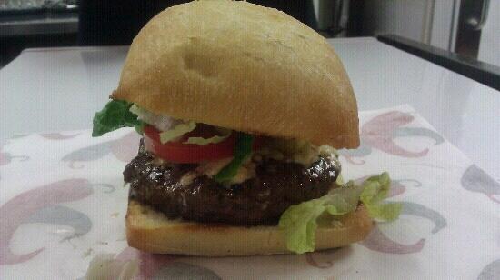 Cafe Sababa - Mediterranean Grill: lamb burger