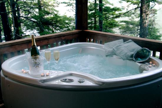 Dove Island Lodge: Private Hot Tub