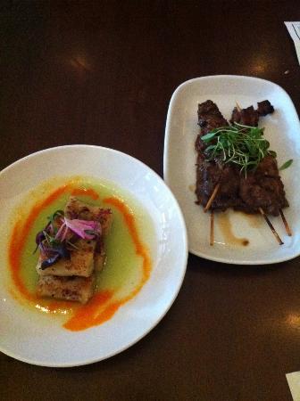 Level - a small plates lounge: Beef Satay & Gnocchi