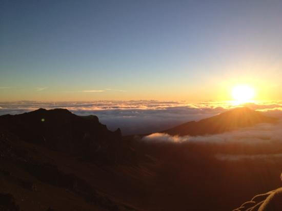 Paia, HI: here's a picture of the sunrise at Haleakala. spectacular.