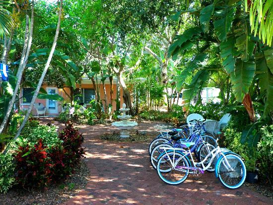 Siesta Key Bungalows: Grounds and free bike rentals