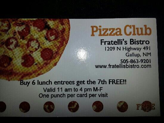 Fratelli's Pizza Bistro and Ice Creamery : Fratelli's Bistro, Gallup, NM