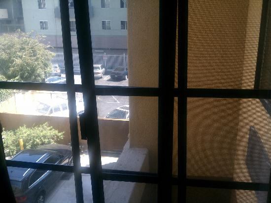 Super 8 Hollywood/LA Area: View through window bars