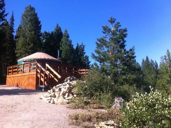 Elkhorn Yurt: view from the fire pit