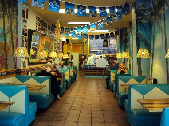 Inside Blue Water Taco Grill