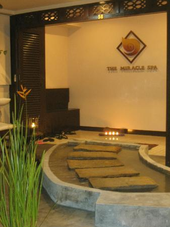 In front of The Miracle Spa