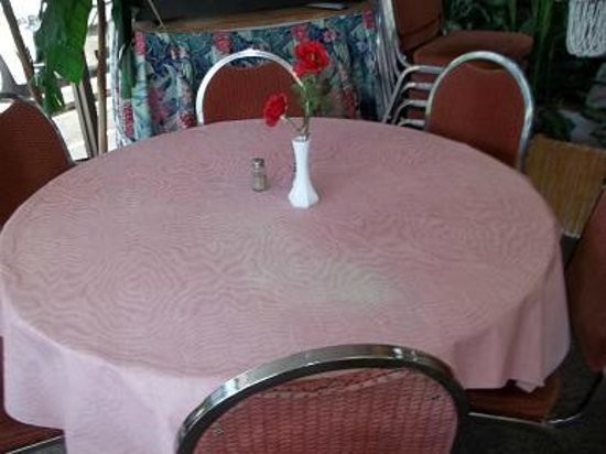 Coral Kingdom Restaurant: Table for six.