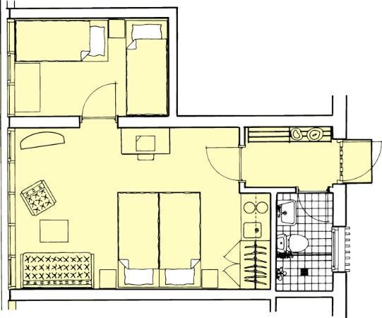 Hotel Abildgaard: Family room Type 2