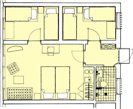 Hotel Abildgaard: Family room Type 4