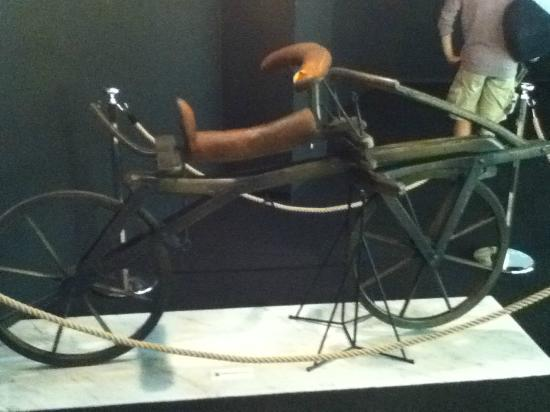Bicycle Museum: bicycle without pedal (first design around 1818)