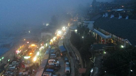 Evening view from attic room. Dekeling Hotel, Darjeeling, West Bengal