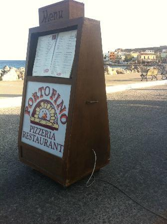 Portofino: Terraza y carta