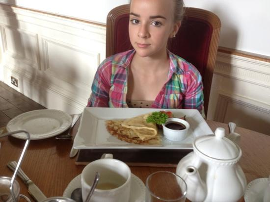 My Daughter With Her Pancakes For Breakfast Picture Of