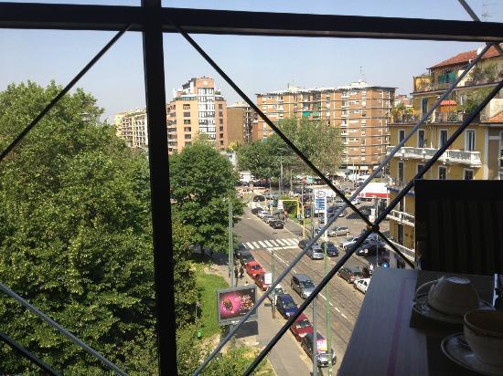 Antares Hotel Rubens: Vista dalla sala colazione