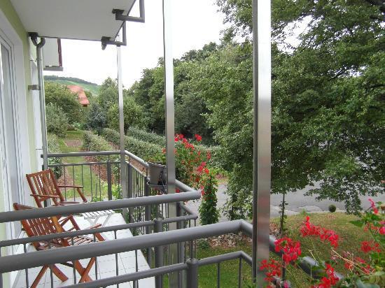 Wein-Träume: Uitzicht vanaf balkon