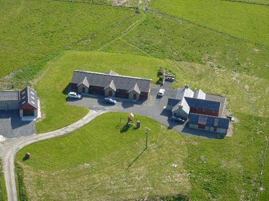 ‪‪Buxa Farm Chalets & Croft House‬: Aerial view of Buxa Farm Chalets and Croft House‬