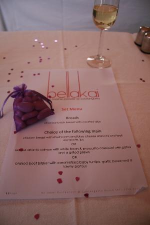 Bellakai: Wedding menu