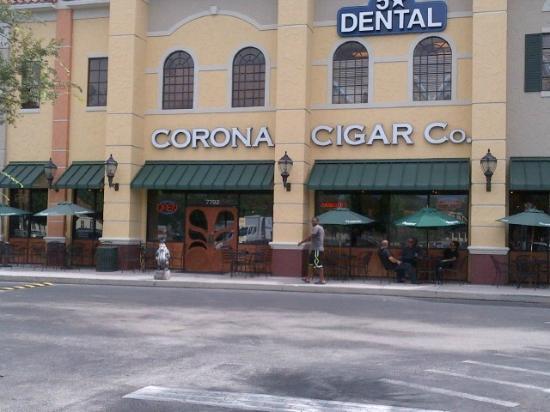 Corona Cigar Company: Patio and Entrance
