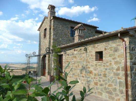 ‪‪Podere Ampella‬: Tradtitional stone home perched on a hill.‬