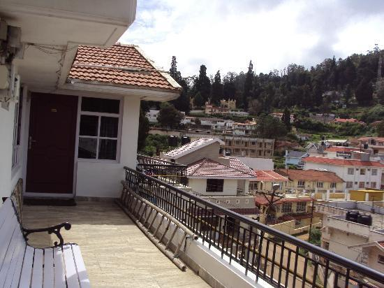Maruthi Cottages: View from balcony