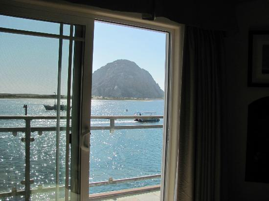 Anderson Inn: View of the rock laying in bed.