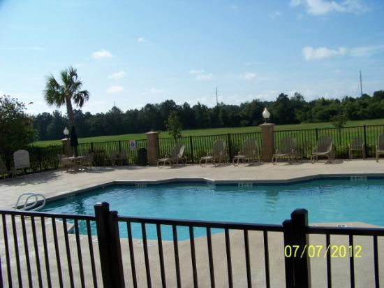 Holiday Inn Hotel & Conference Center: Here's the pool. It appears (to me) to be smaller than on website. You be the judge.