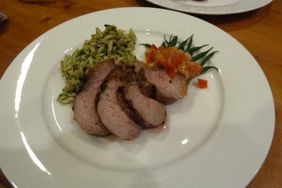 The Old Rectory: Orzo Salad with Perth Co Pork-Summer Menus 2012