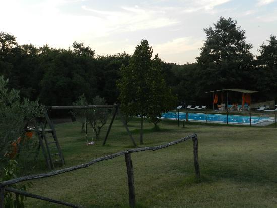 Agriturismo Il Felcino: la piscina vista dal ns appartamento, il Ninfea