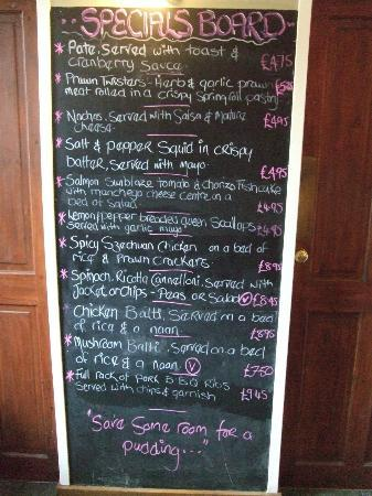 Jackfield, UK: This is just the specials, not the full menu