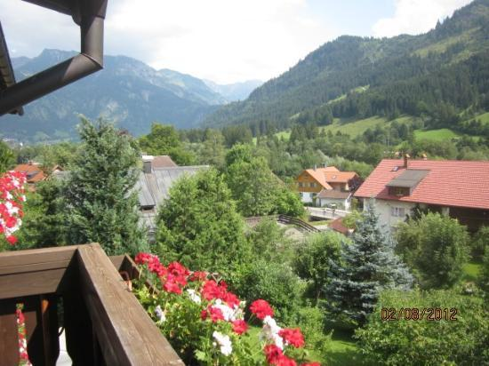 Hotel Malerwinkl: Blick vom Balkon in Richtung Hindelang