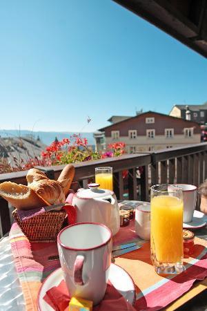 Le Grand Tetras Hotel: Petit déjeuner en chambre