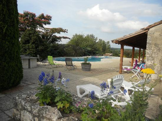 Saint Julien d'Eymet, Frankrike: Pool area
