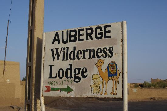 Auberge Wilderness Lodge: 看板