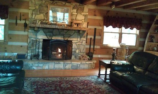 Gateway Lodge: Great room fireplace