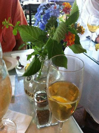 Cafe Degas: our table