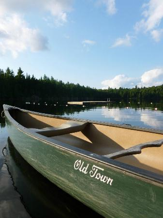 Great Camp Sagamore: Water safety courses provided for those who wish to take a canoe onto the lake