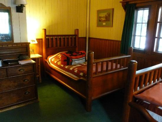 Great Camp Sagamore: 2-person guest room on 1st floor of the Main Lodge, just off the living room