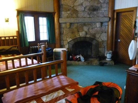 Great Camp Sagamore: Most guest rooms feature original details, like stone fireplaces