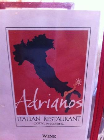 "Adriano's Italian Restaurant: the ""spurred"" boot"
