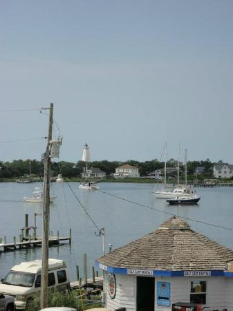 The Anchorage Inn: View from 3rd floor balcony - lighthouse