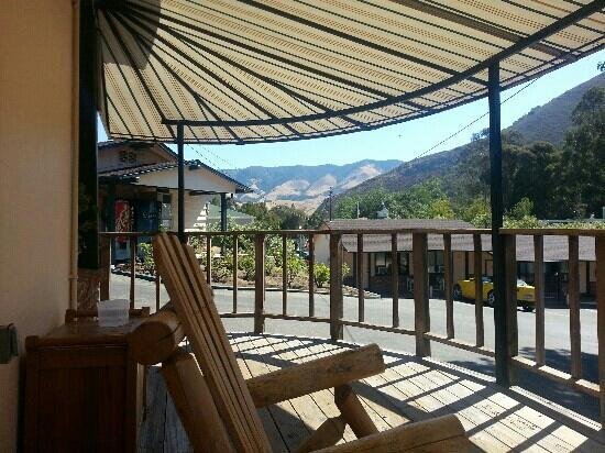 Peach Tree Inn: View from the rocking chair.