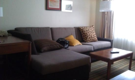 Residence Inn Orlando Convention Center: Couch has a pull out queen bed!