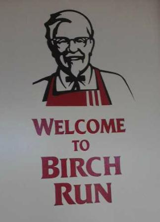KFC: Sign inside door