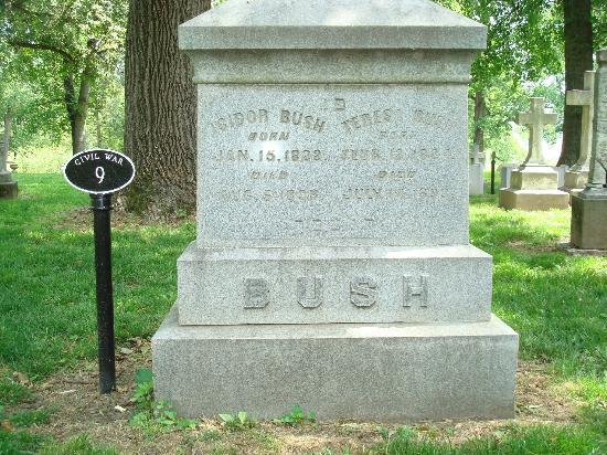 Bellefontaine Cemetery: Isidor Bush - fierce opponent of slavery