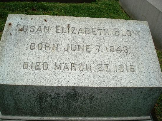 Bellefontaine Cemetery: Susan Elizabeth Blow leader in education 1st Kindergarten in St Louis
