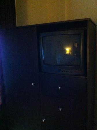 Hotel de Paris: The cheap old TV.