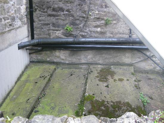 Grassington House: outside red room window