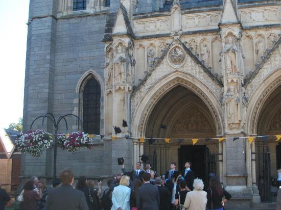 Eliot Hotel: Graduates celebrate at Truo Cathedral