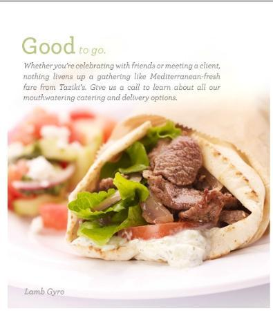 Taziki S Mediterranean Cafe Menu